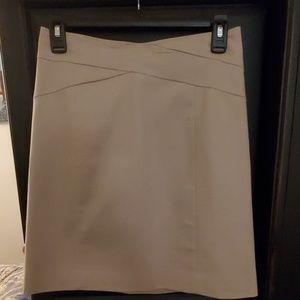 Banana Rep Pencil Skirt - Beige - Size 0 Stretch